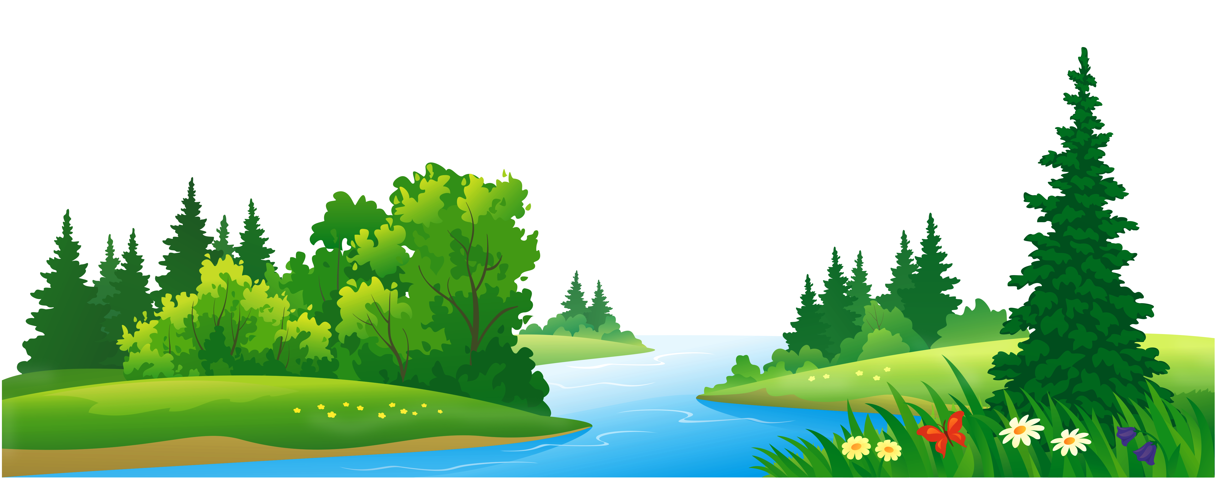 Grass and trees transparent. Clipart lake
