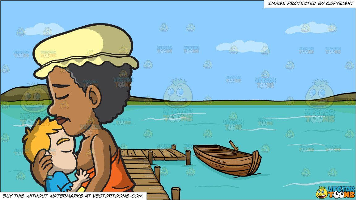 Lake clipart animated. Cartoon a female polynesian