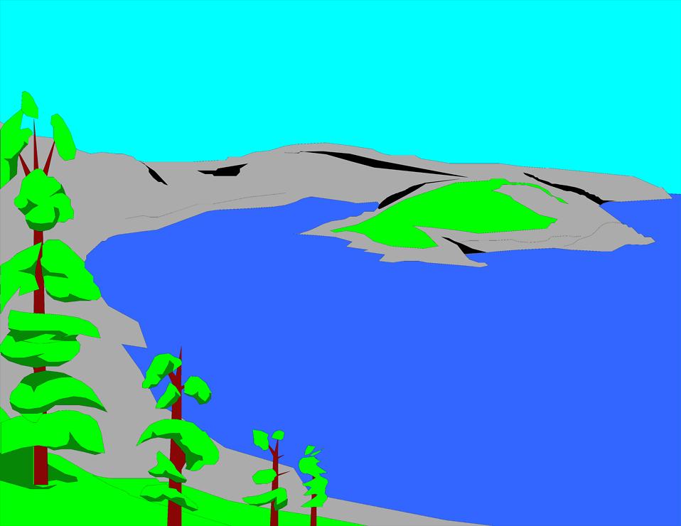 lake clipart blue lake