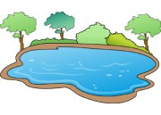 Lake clipart water hole.  clipartlook