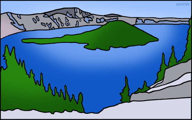 Lake clipart crater. United states clip art