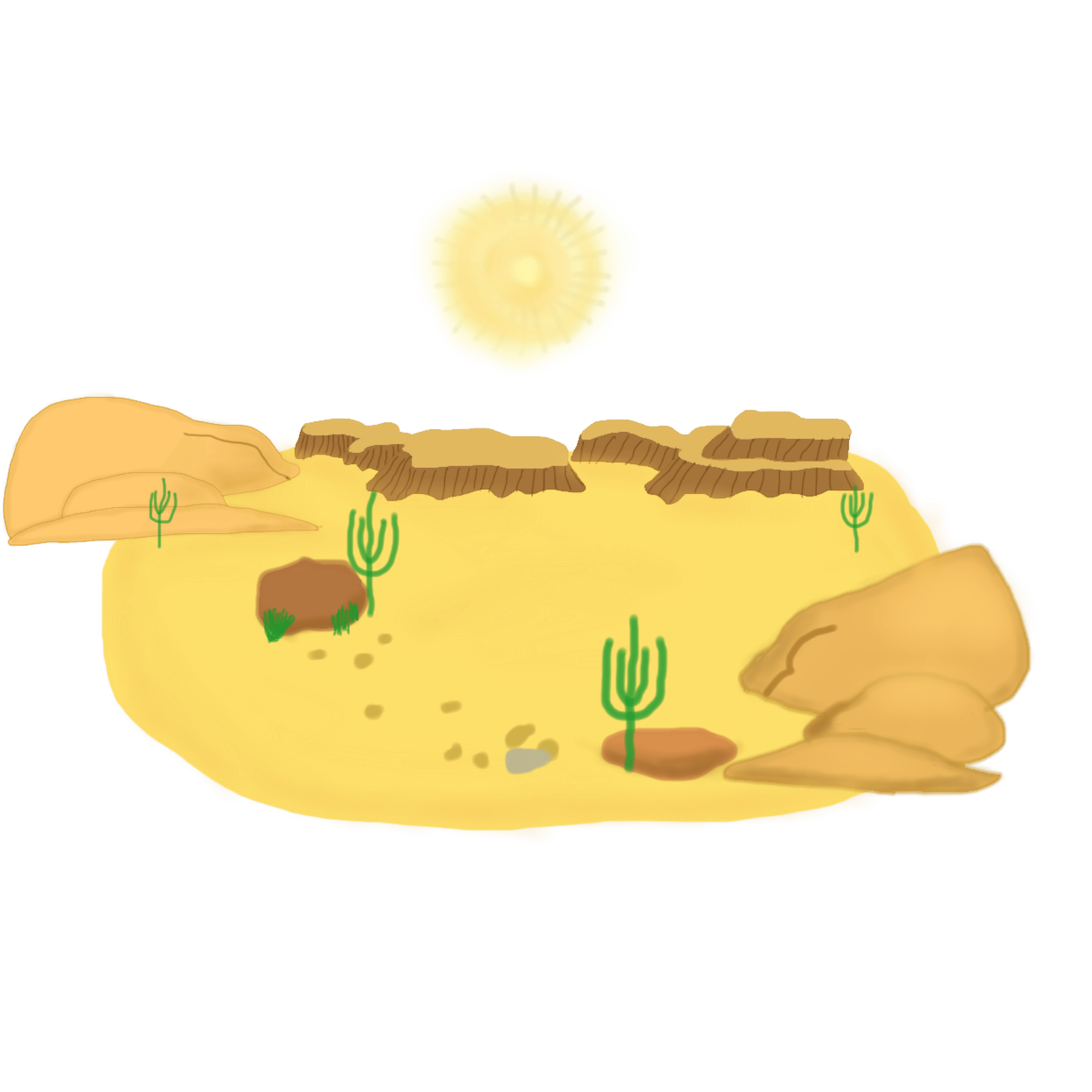 Desert clipart forest habitat. Ecosystem group hanslodge cliparts