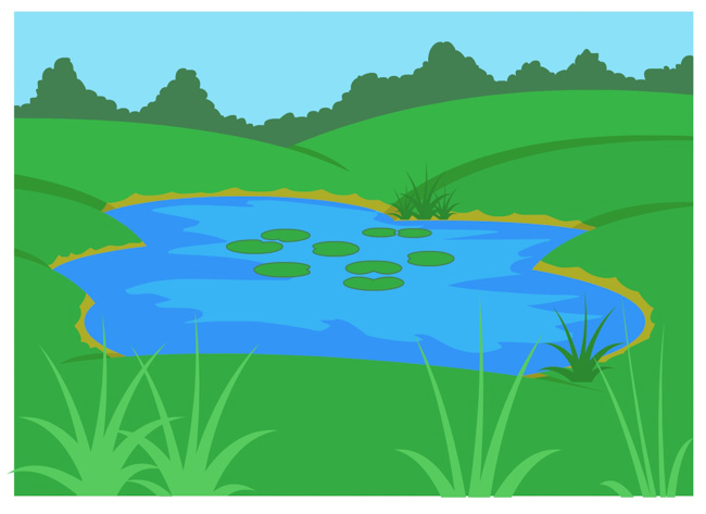 Standing water lakes and. Lake clipart ecosystem