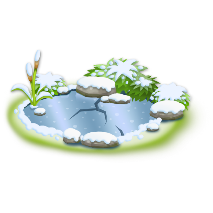 Lake clipart farm pond. Image small frozen png