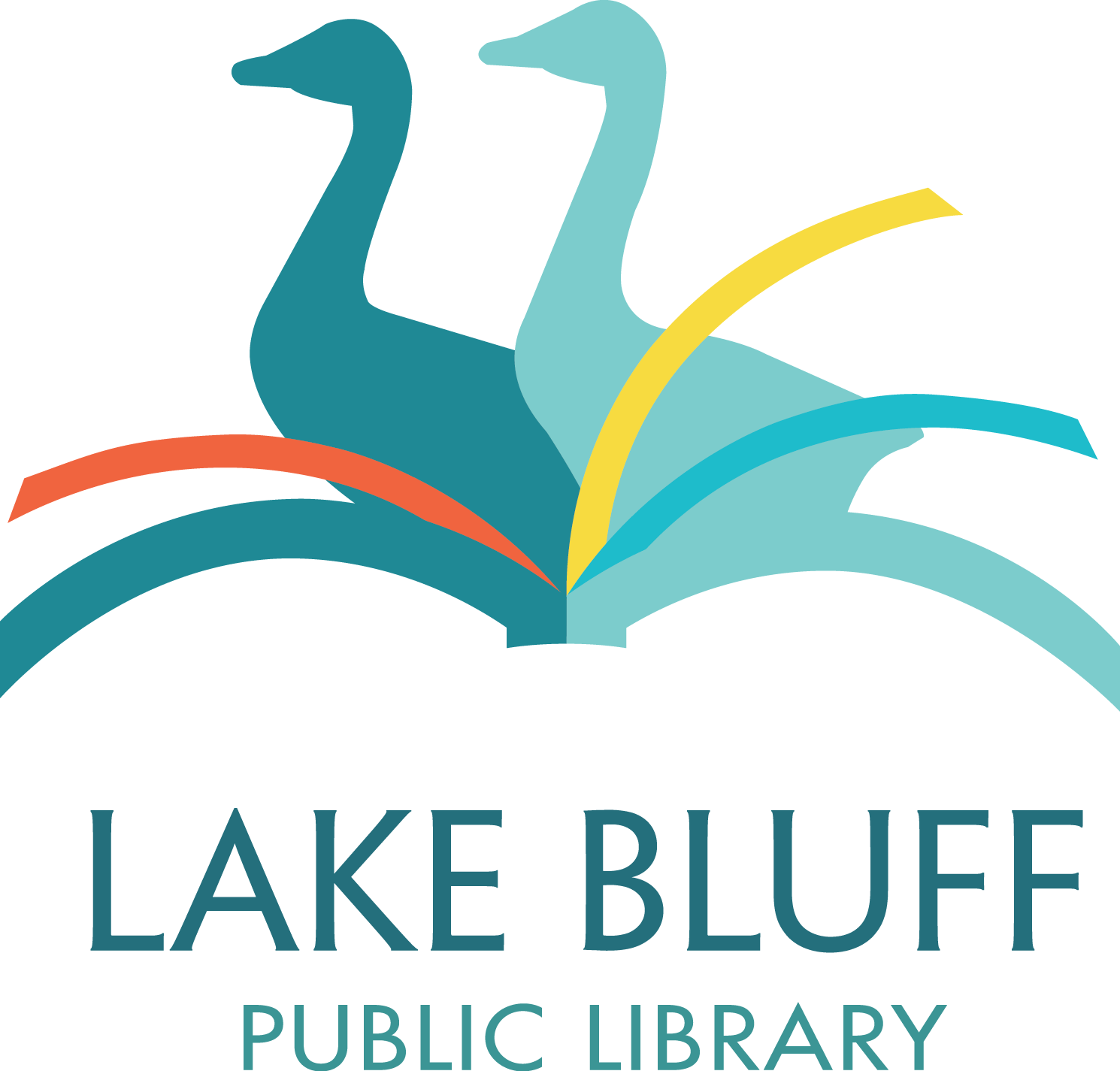 Lake clipart forest stream. Bluff public library