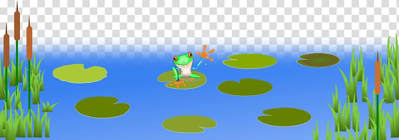 Lake clipart frog pond. Amphibian big frogs transparent