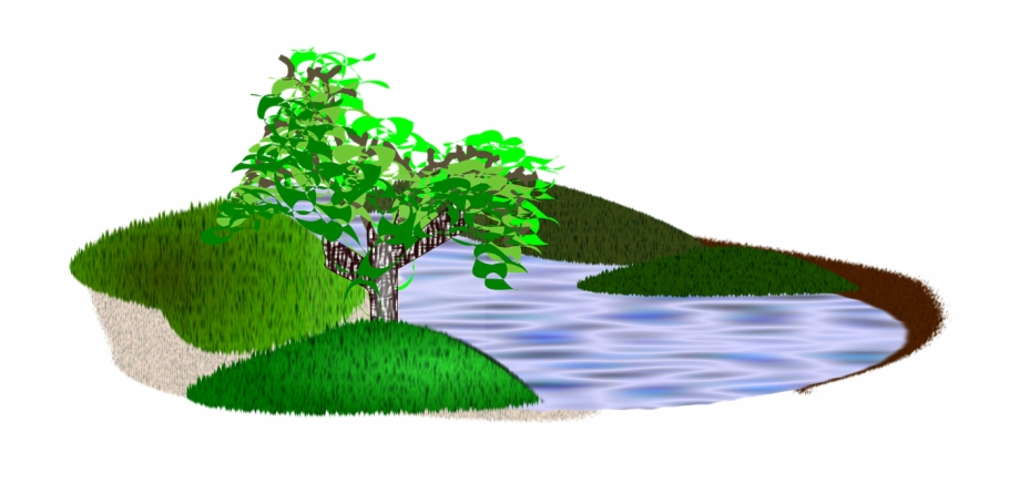 Lake clipart grass tree. Pond nature natural scenery