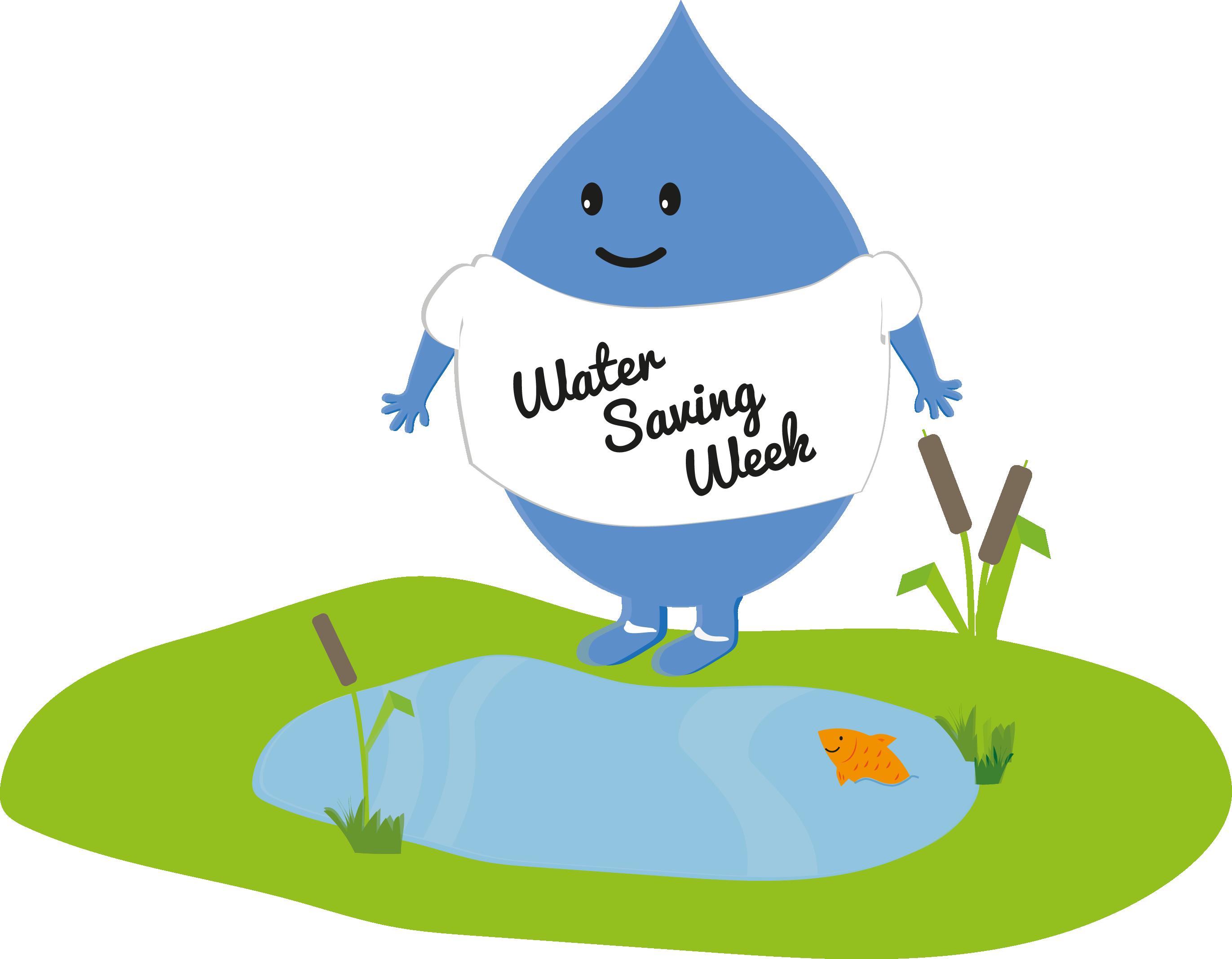 Clipart lake habitat pond. Water saving week work