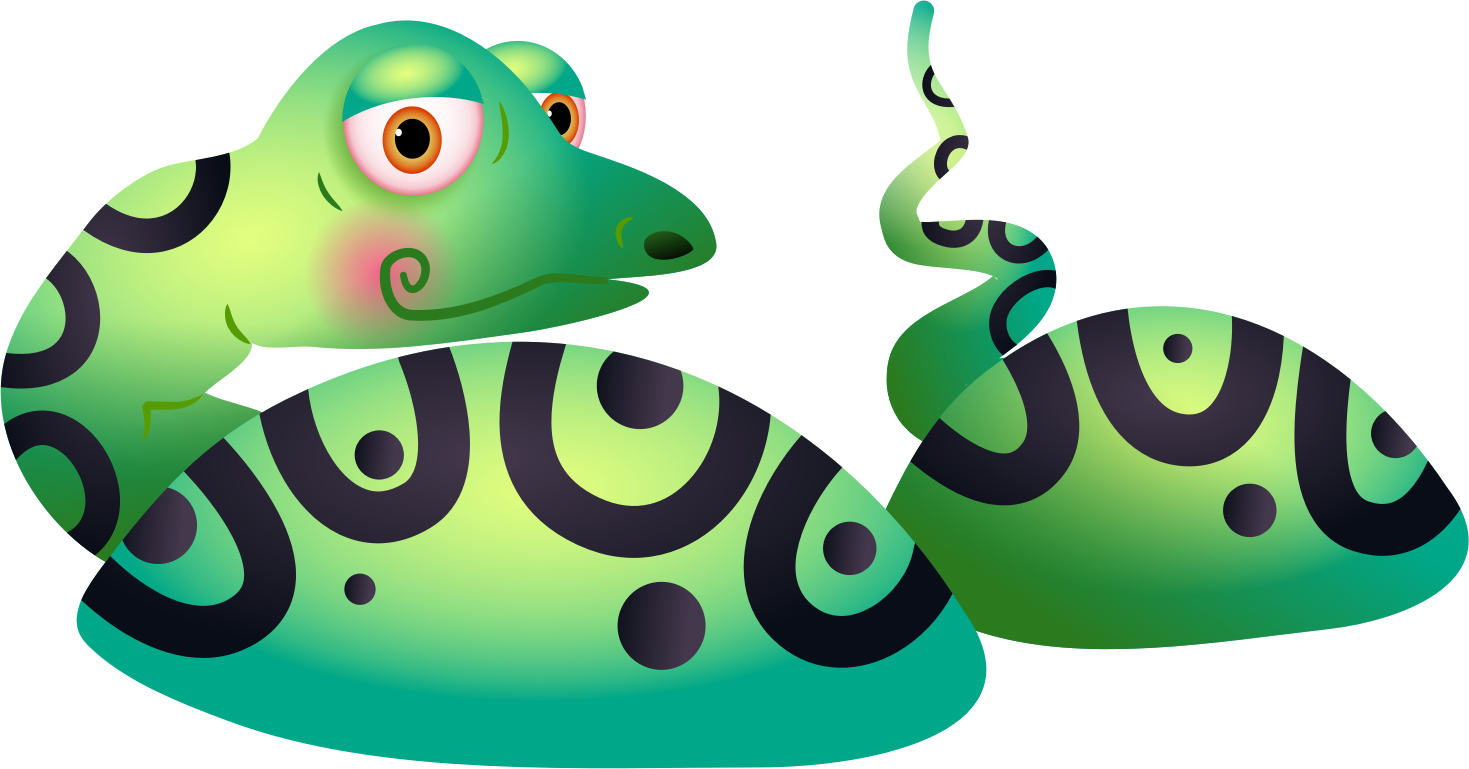 Snake in a icons. Lake clipart icon