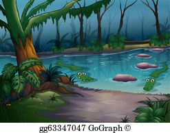Lake clipart jungle. Clip art royalty free