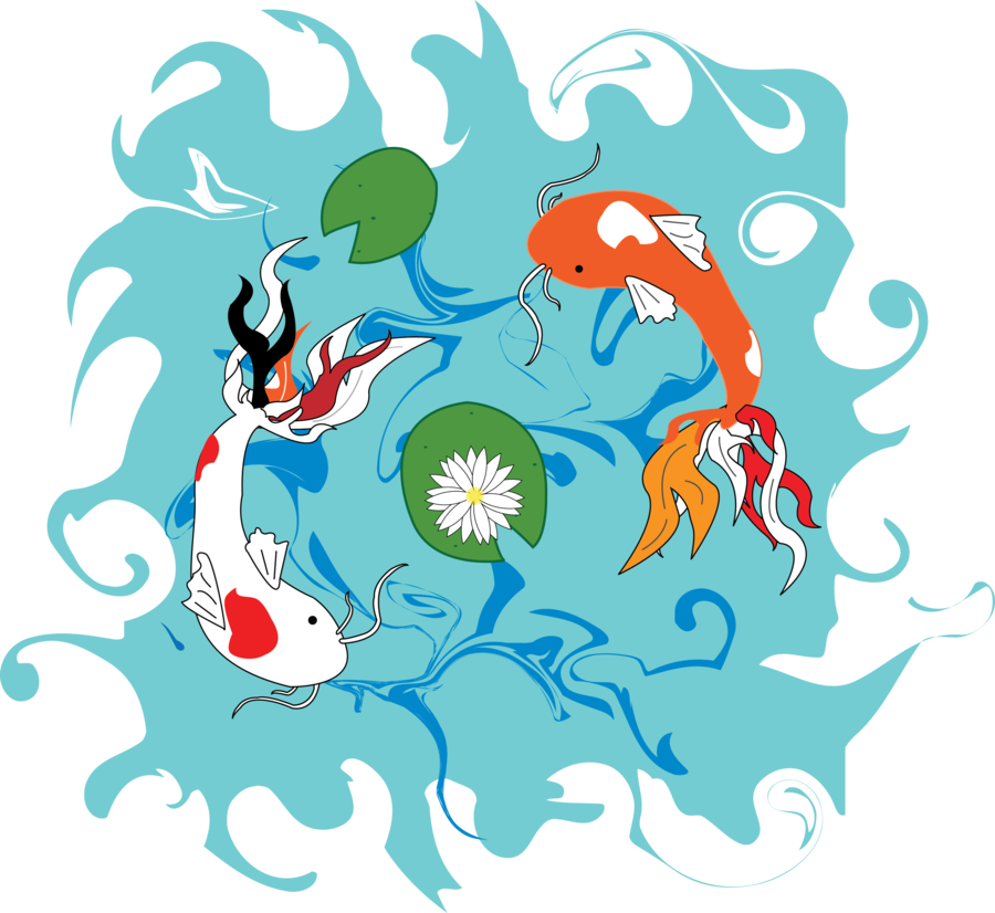 Fish by dylanspider on. Lake clipart koi pond