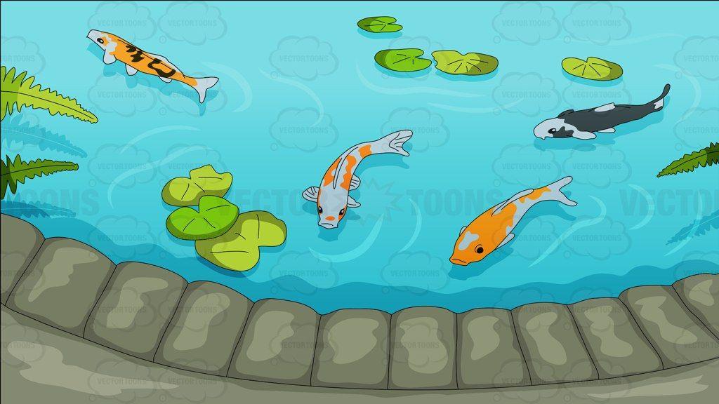 Pretty background stationary ideas. Lake clipart koi pond