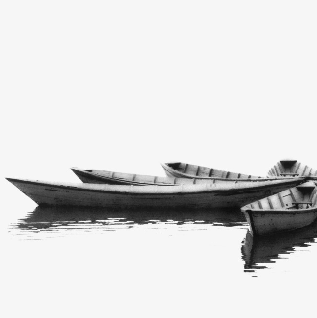 Black and white png. Clipart lake lake boat