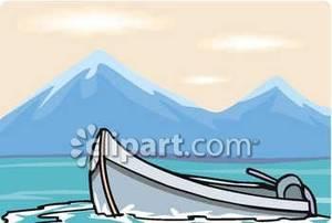 On a mountain royalty. Clipart lake lake boat
