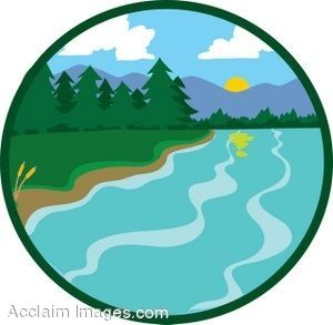 Lake clipart lake river. Water or rivers drawings