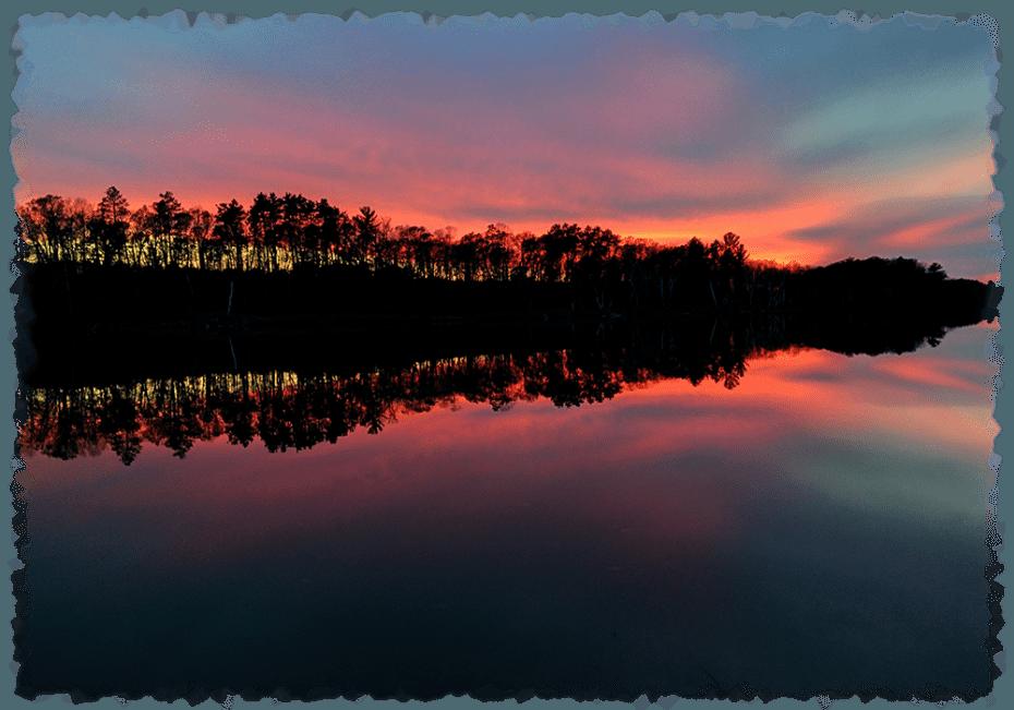 Minnesota family resort pine. Lake clipart lake sunset