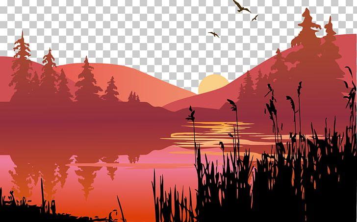 Png calm cartoon water. Lake clipart lake sunset