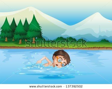 Lake clipart lake swimming. Station