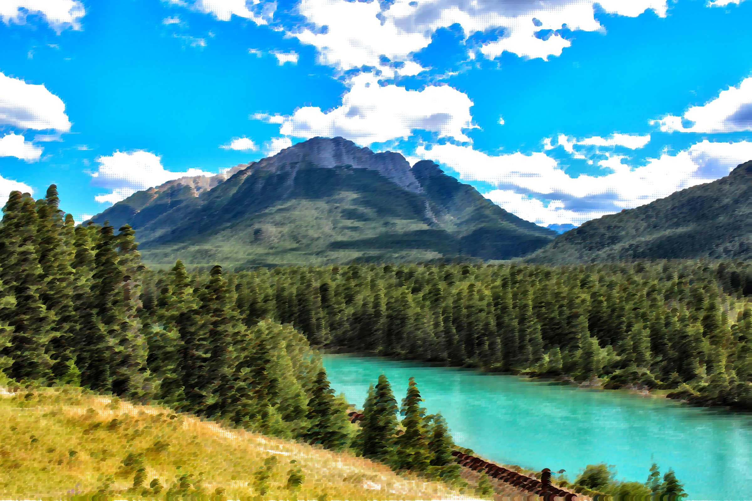 Surreal bow river big. Lake clipart landscape canada