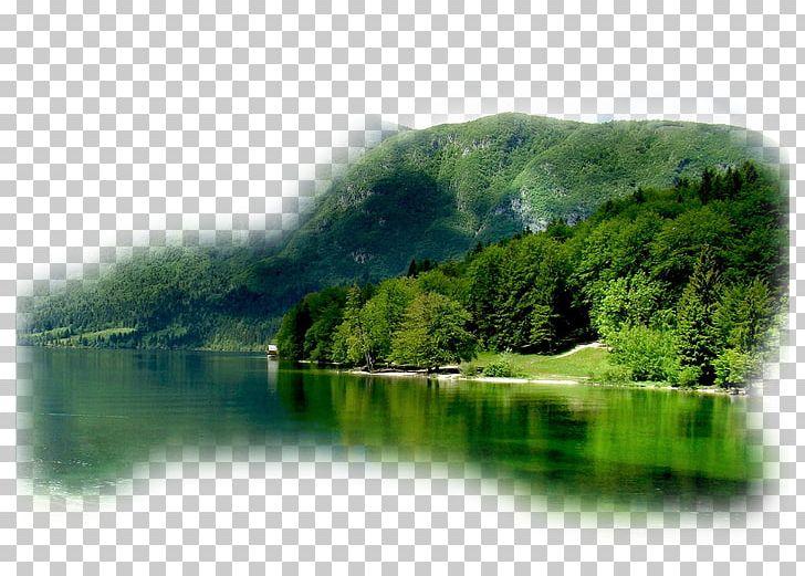 Clipart lake landscape painting. Bohinj animation png
