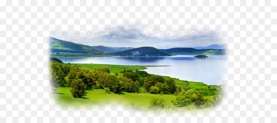 Cartoon sky . Clipart lake landscape painting