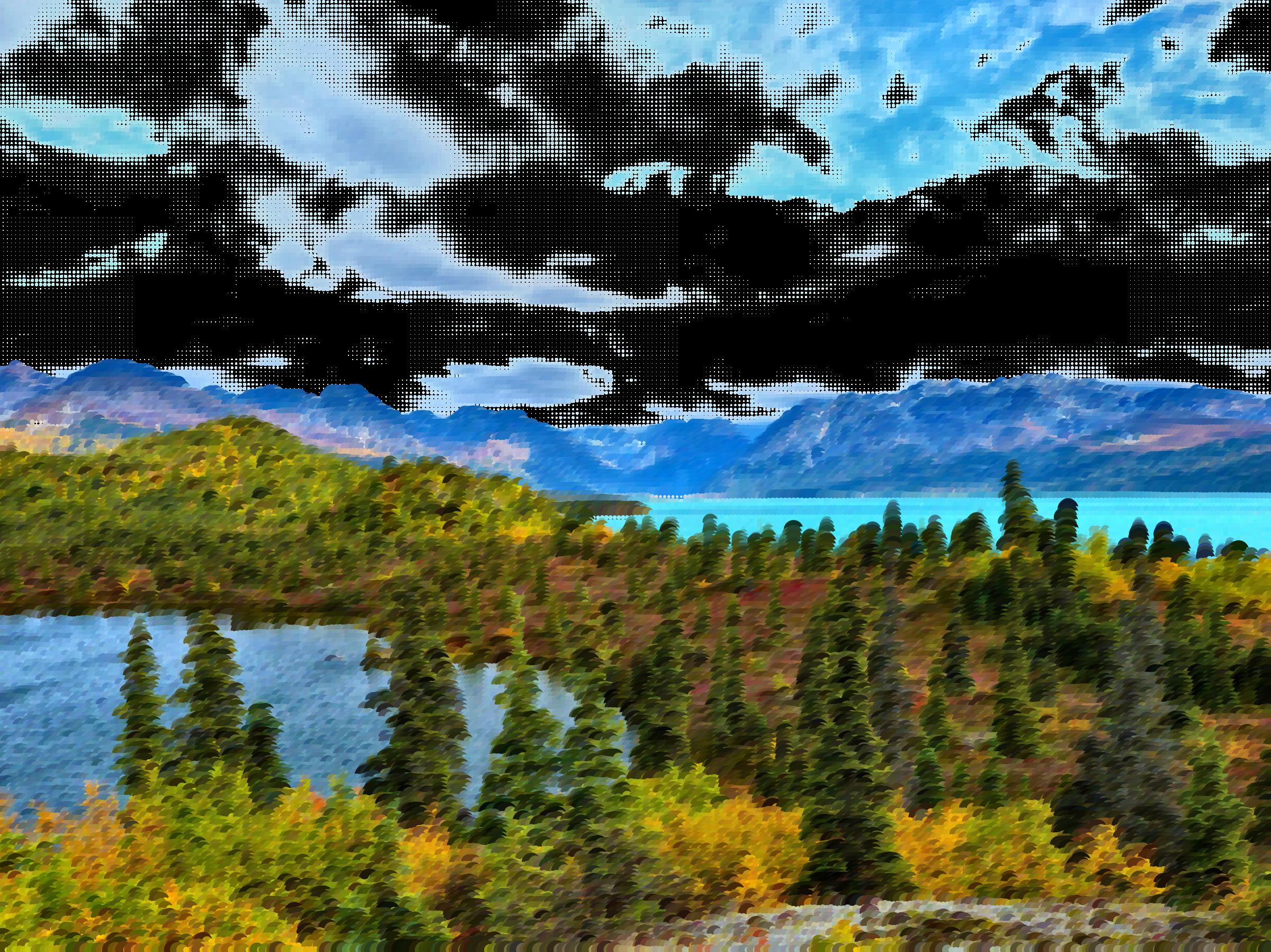 Lake clipart natural environment. Surreal serene nature big