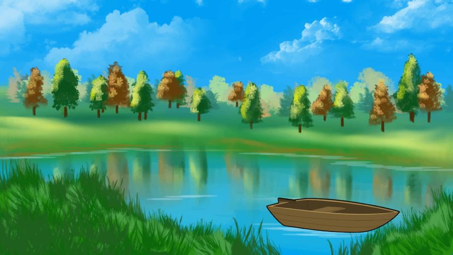 Pond cartoon nature transparent. Lake clipart water lake