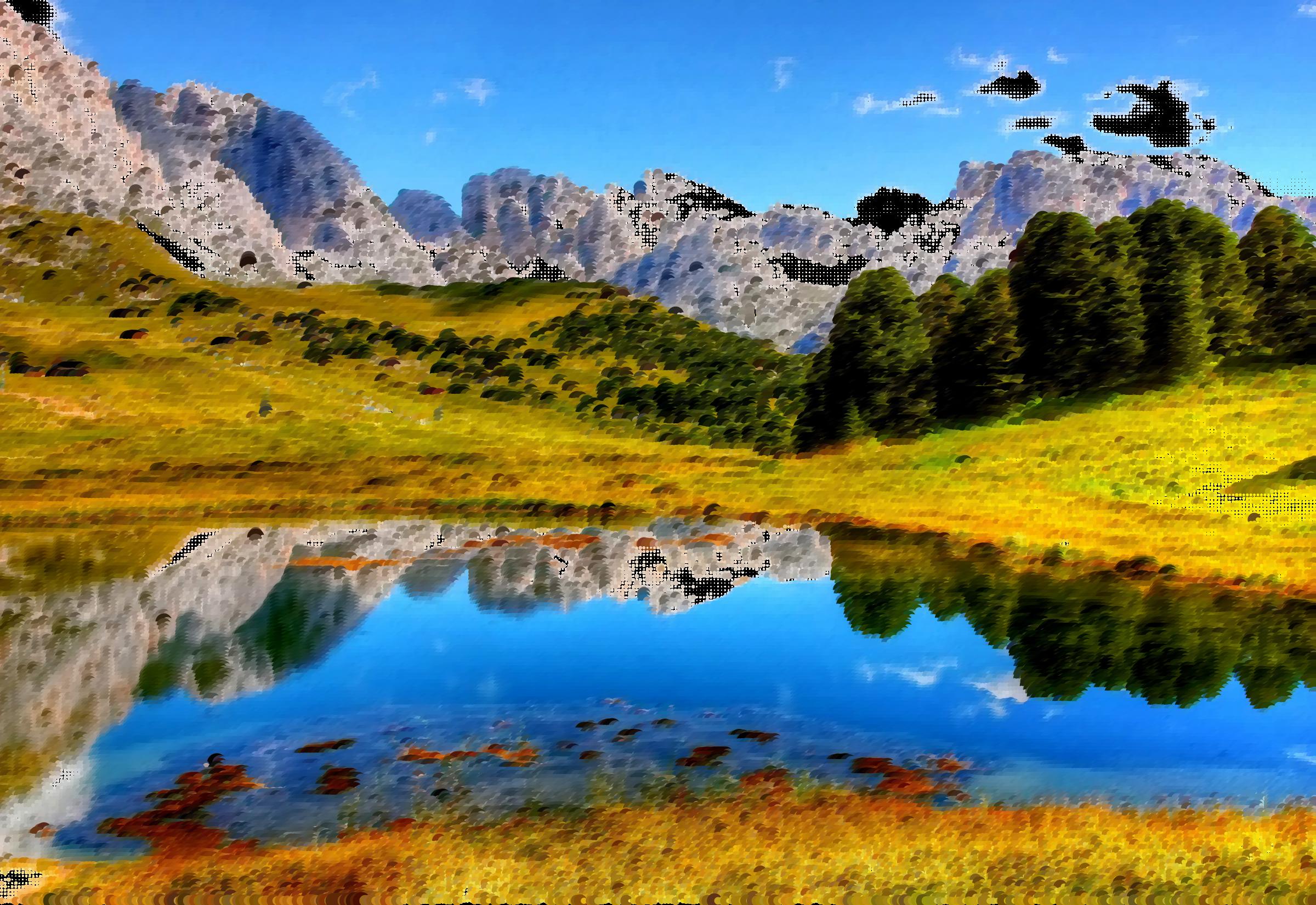 Surreal italian alps big. Clipart lake mountan