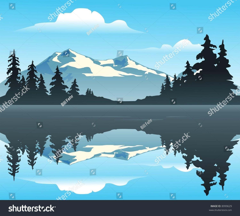 Hills clipart lake mountain. Silhouette clip art outdoor