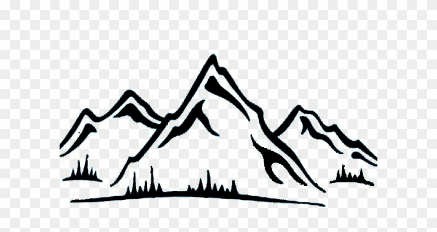 Clipart mountain mountain range. Lake district sticker