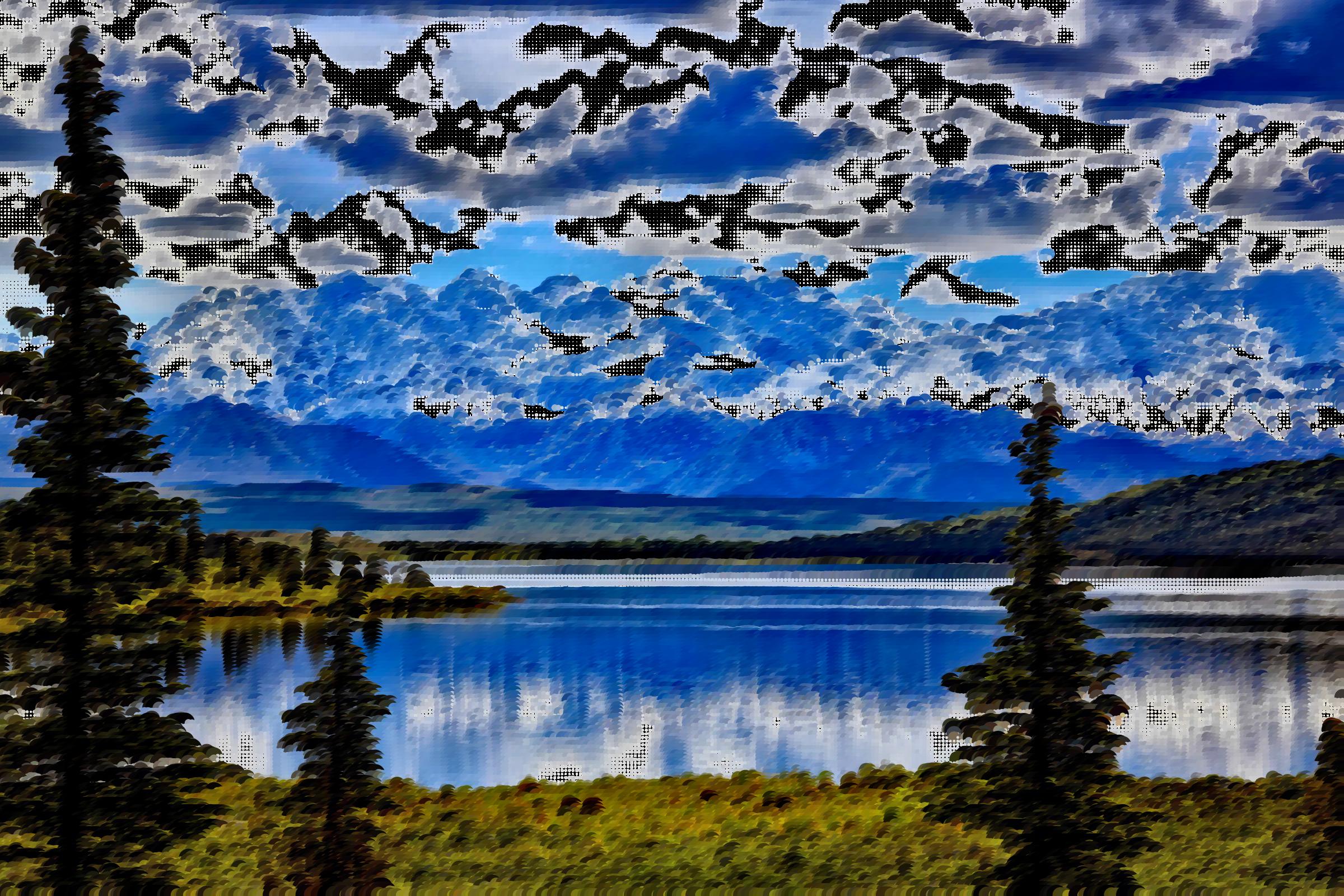 Surreal denali national park. Lake clipart natural environment