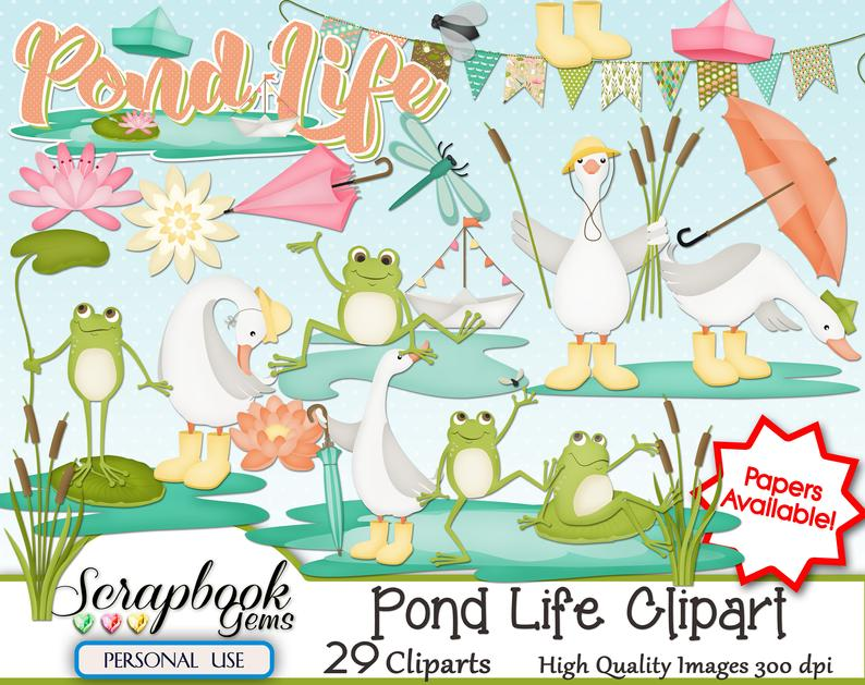 Png files instant download. Lake clipart pond life