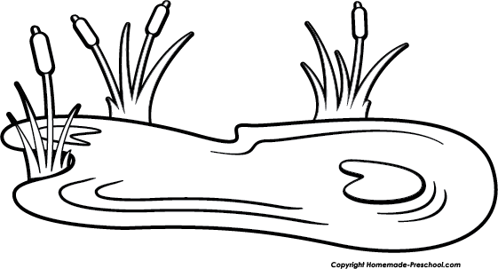 Lake clipart pond life. Duck black and white