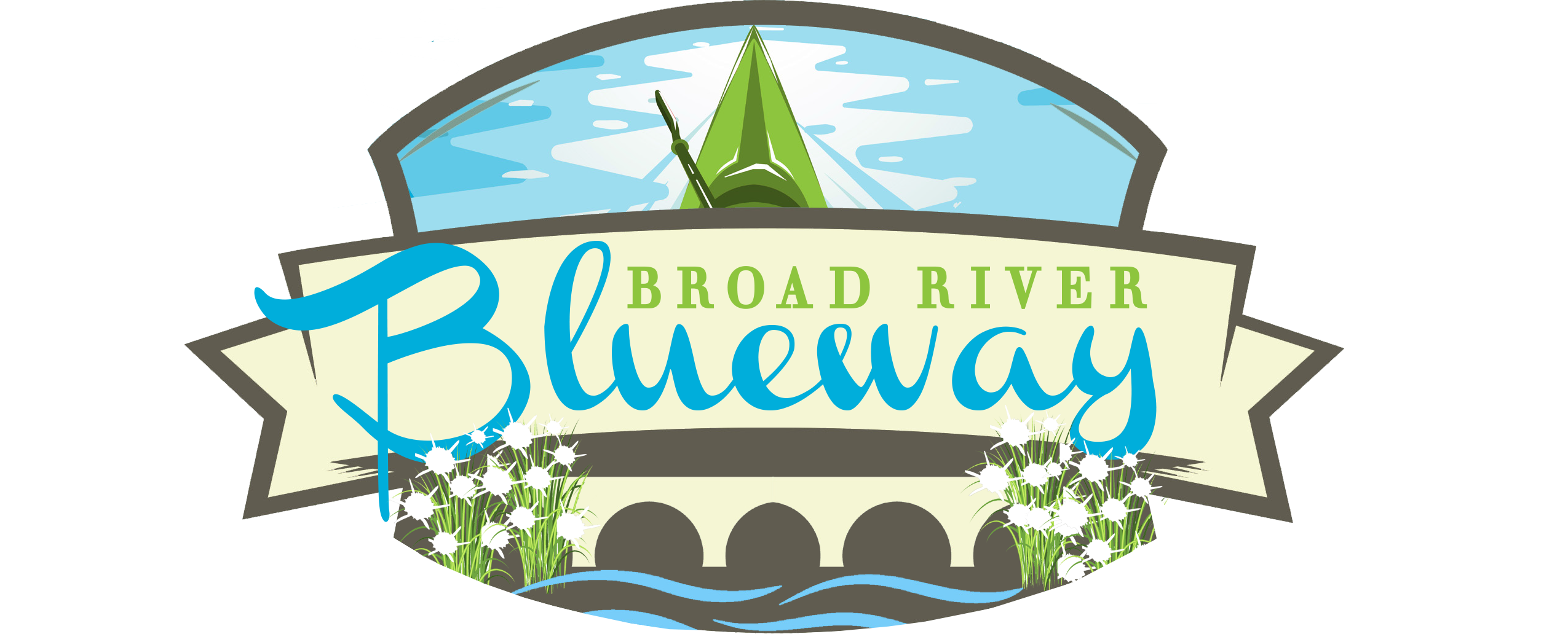 Hills clipart river flow. Broad the blueway in