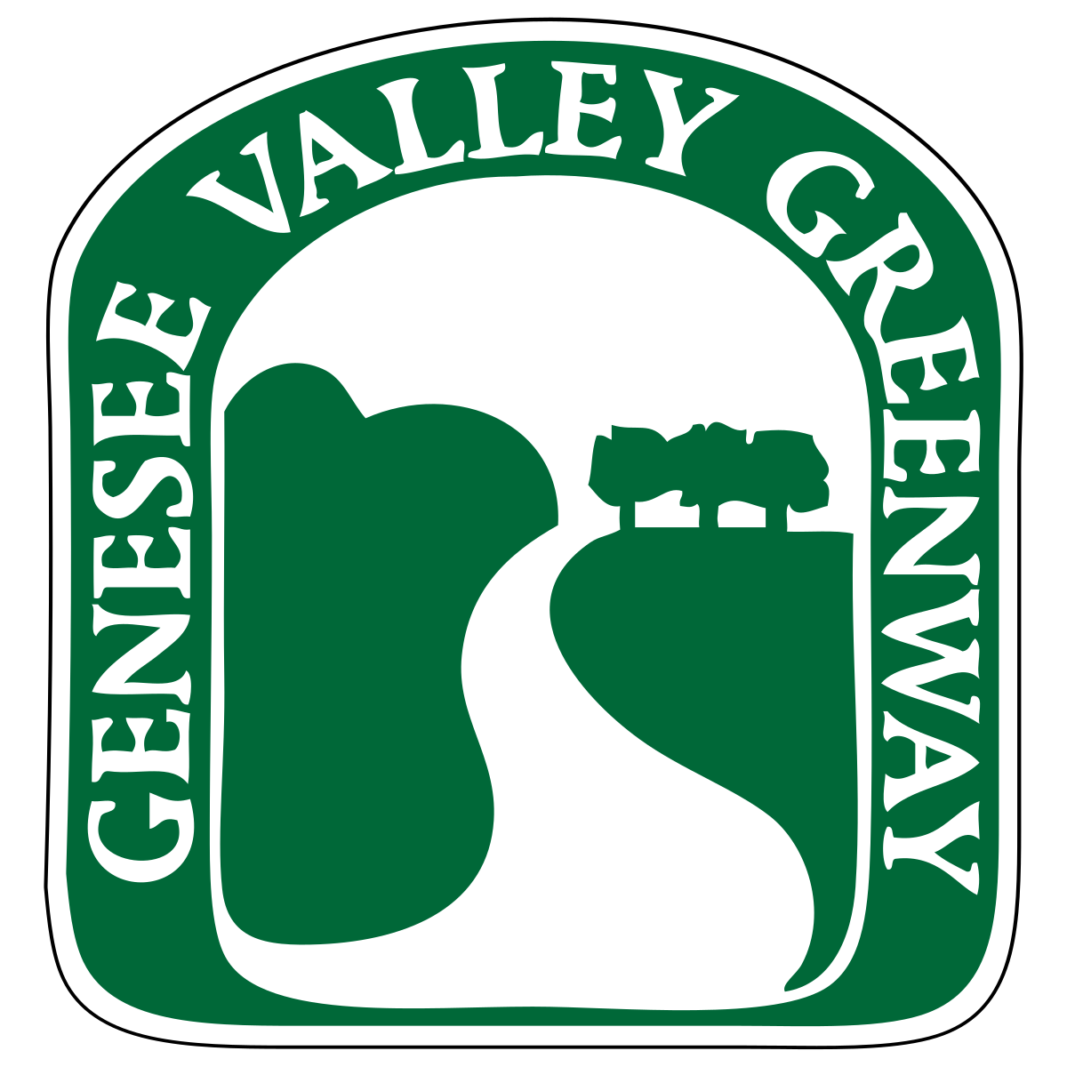 Genesee valley greenway wikipedia. Pathway clipart hilly road