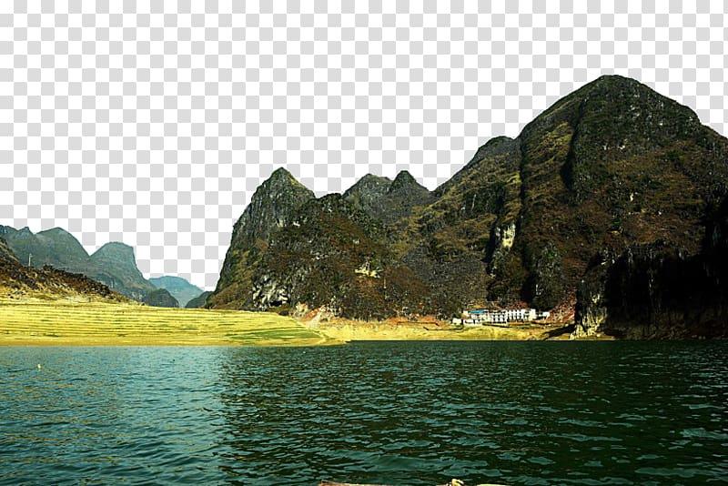 Lake clipart scenic. Beihai baise lijiang river
