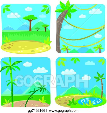 Vector stock set of. Lake clipart simple