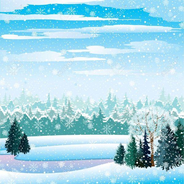 Clipart lake snowy scenery.  landscape winter wonderland