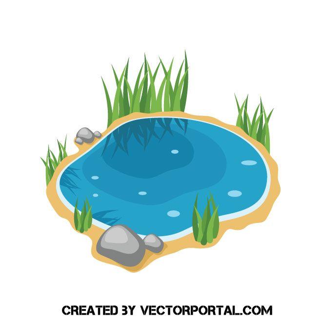 Lake clipart vector. Small clip art nature