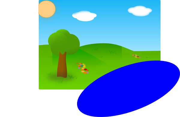Lake clipart sunny. Day with just needed