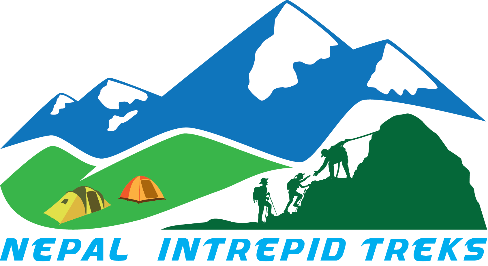 Hike clipart clip art. Gokyo lake trek valley
