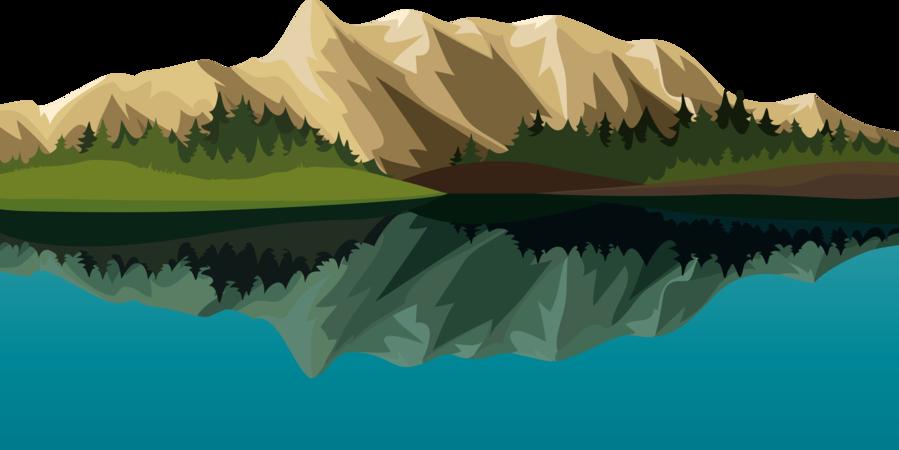 Lake clipart mountan. Mountain cartoon leaf transparent