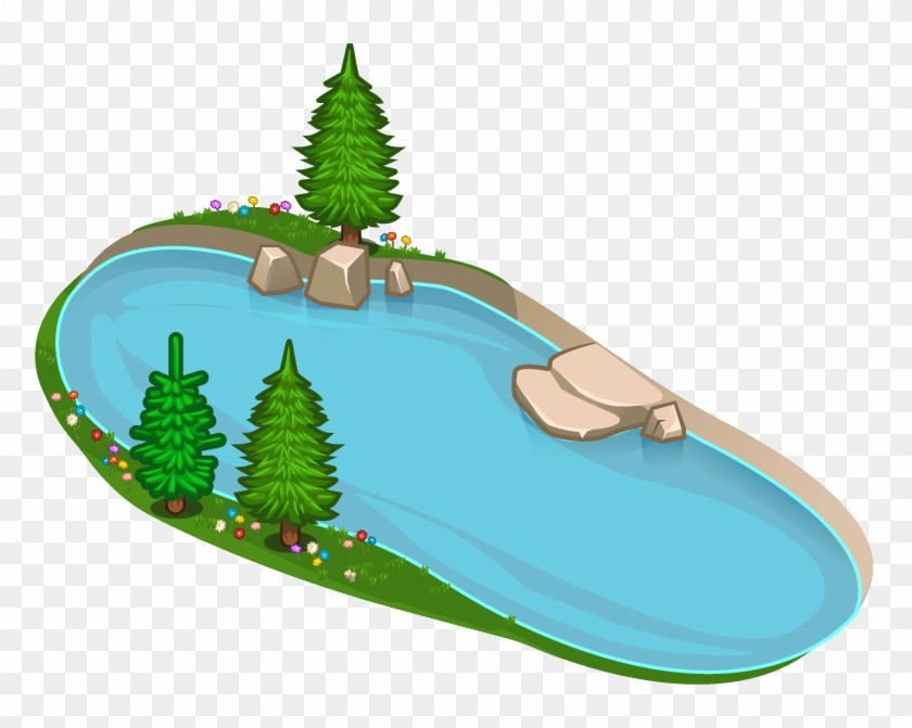 . Lake clipart top view