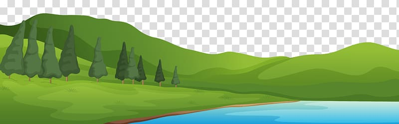 Hills clipart mountain water. And lake ground green