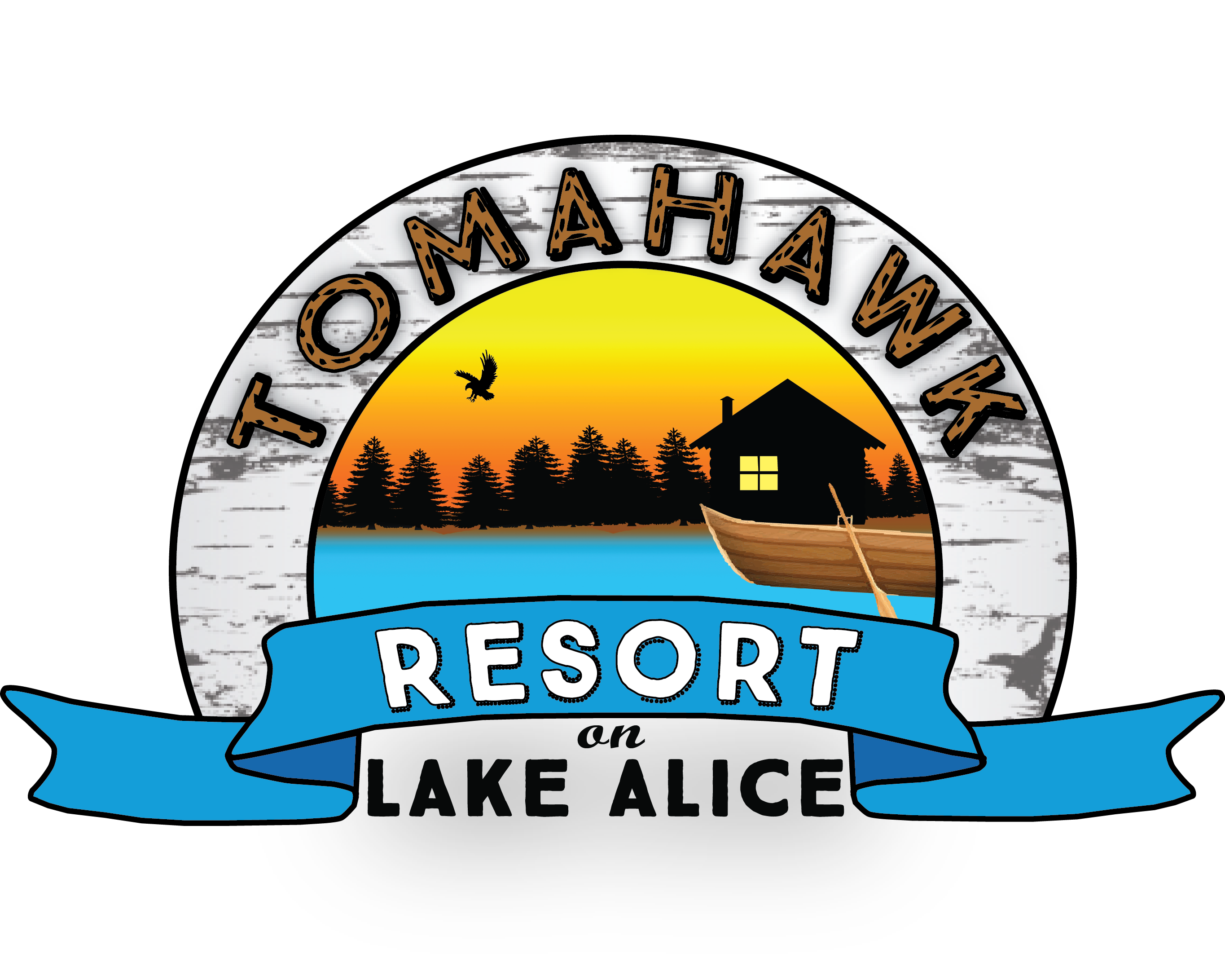 Tomahawk resort on lake. Parking lot clipart rent