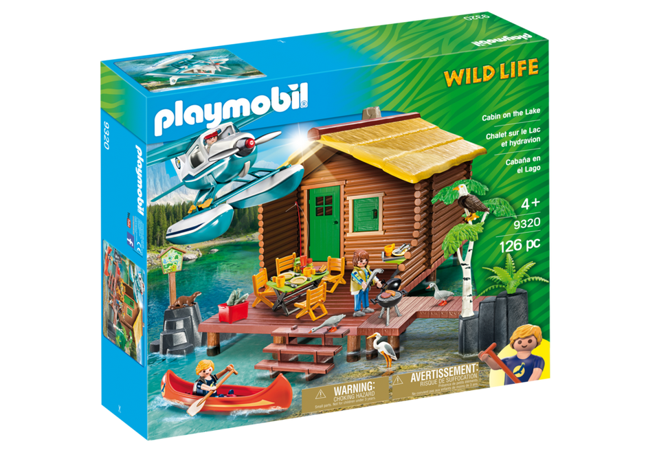 Lake clipart vacation home. Cabin on the playmobil
