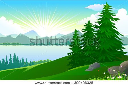 Beauty of nature from. Lake clipart view