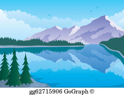 Clipart mountains mountain side. Lake view clip art
