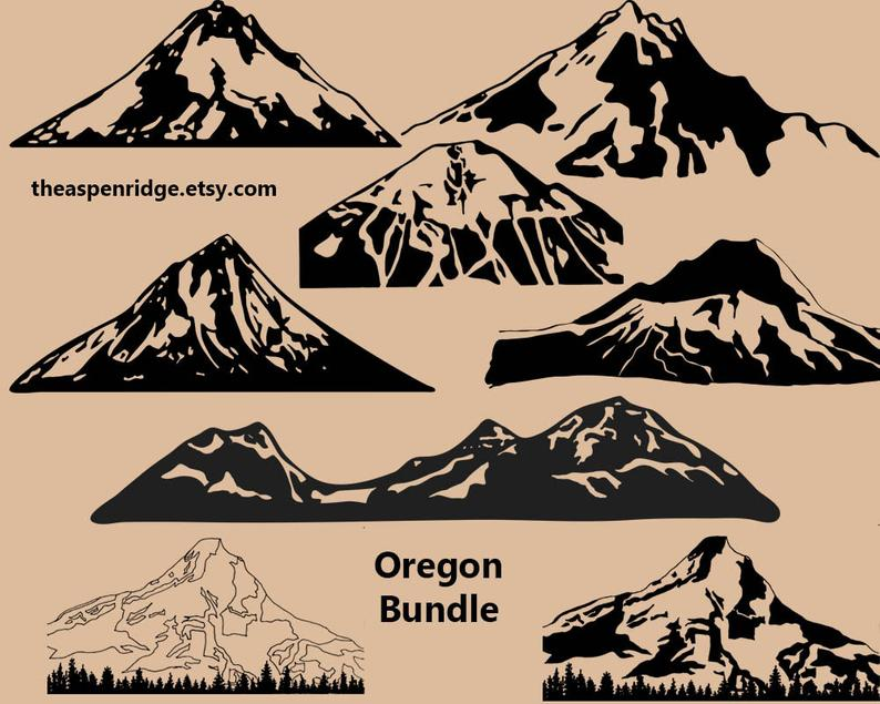 Lake clipart volcano crater. Oregon mountain clip art