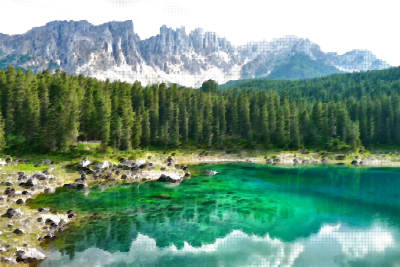 Surreal bergsee germany medium. Lake clipart landform
